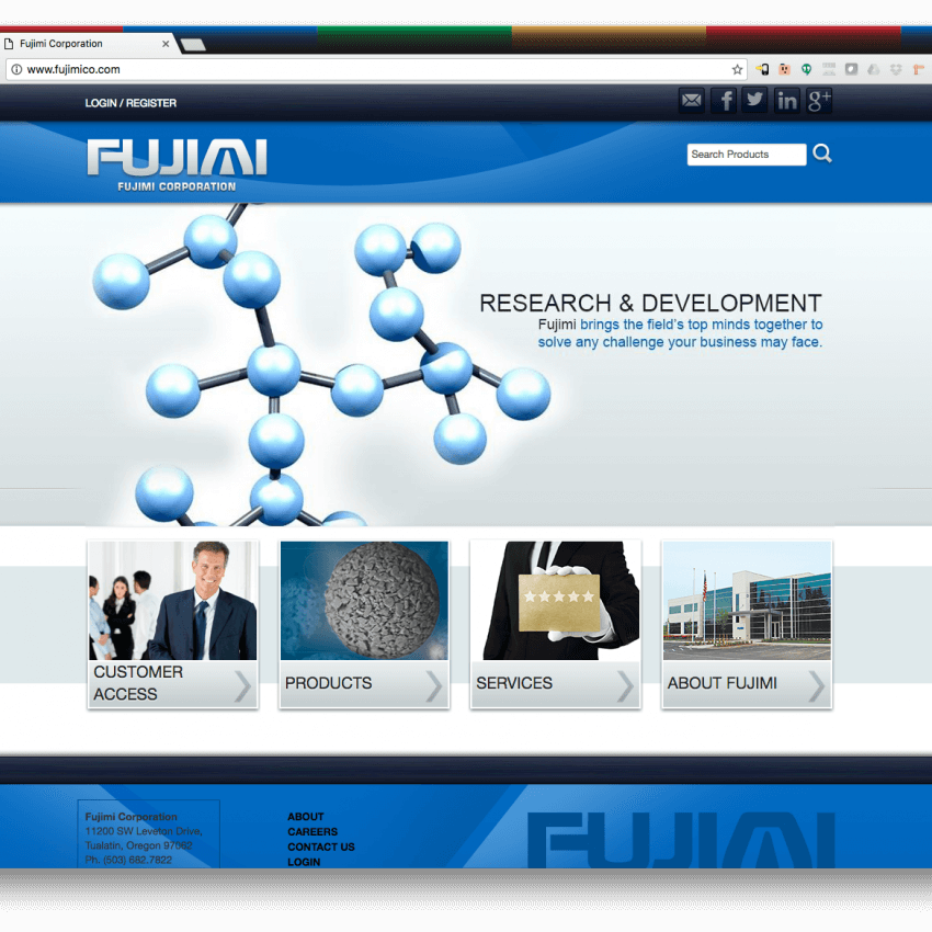 Fujimi Corp Website