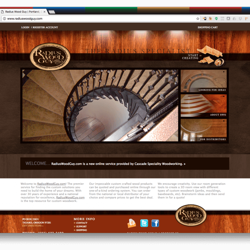 Radius Woodguy Website Application