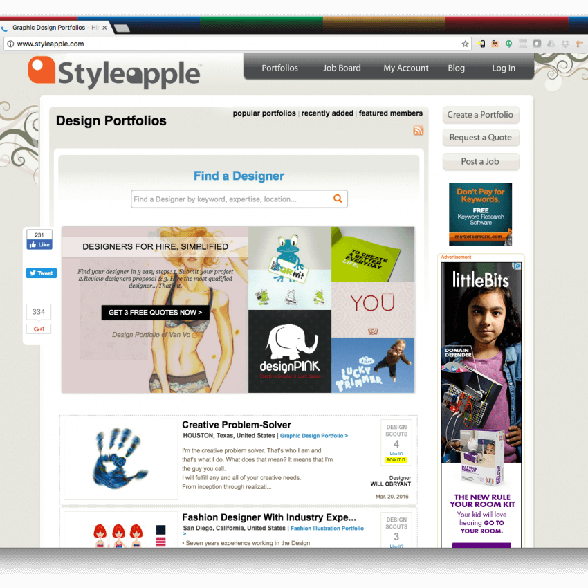 Styleapple Social Media Web Application