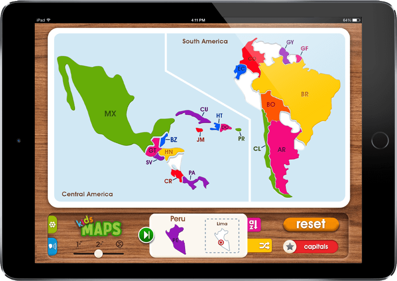 Mobile App Portfolio: Kids Maps iOS & Android App - S.A