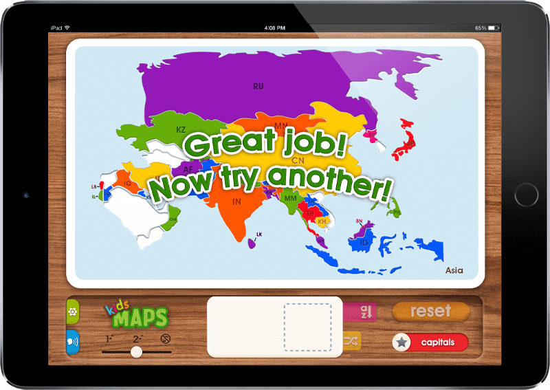 Mobile App Portfolio: Kids Maps iOS & Android App - Asia
