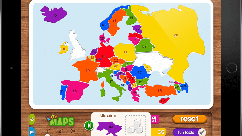 Kids Maps: Europe - iOS & Android app - Media Mechanic