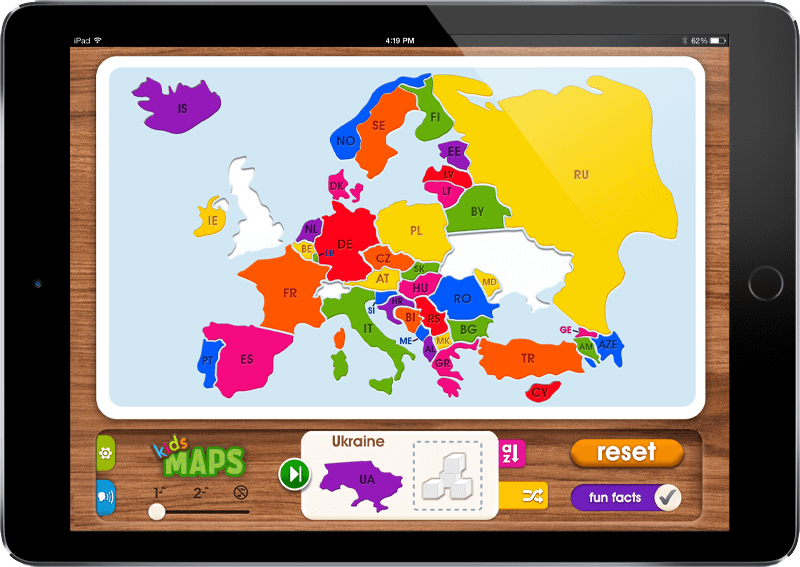 Mobile App Portfolio: Kids Maps iOS & Android App - Europe