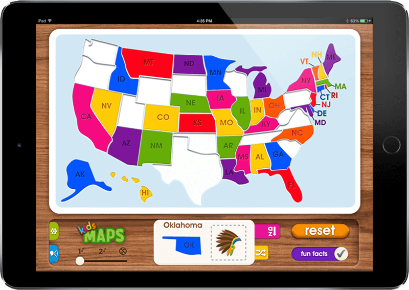 Mobile App Portfolio: Kids Maps iOS & Android App - U.S.