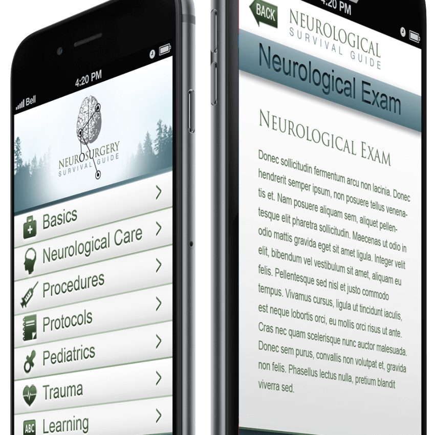 Mobile App Portfolio: neurosurgery survival guide ios & android app