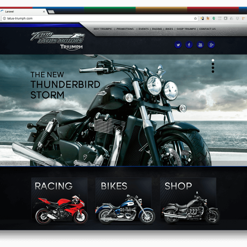 Website Design Portfolio: Triumph Motors Website